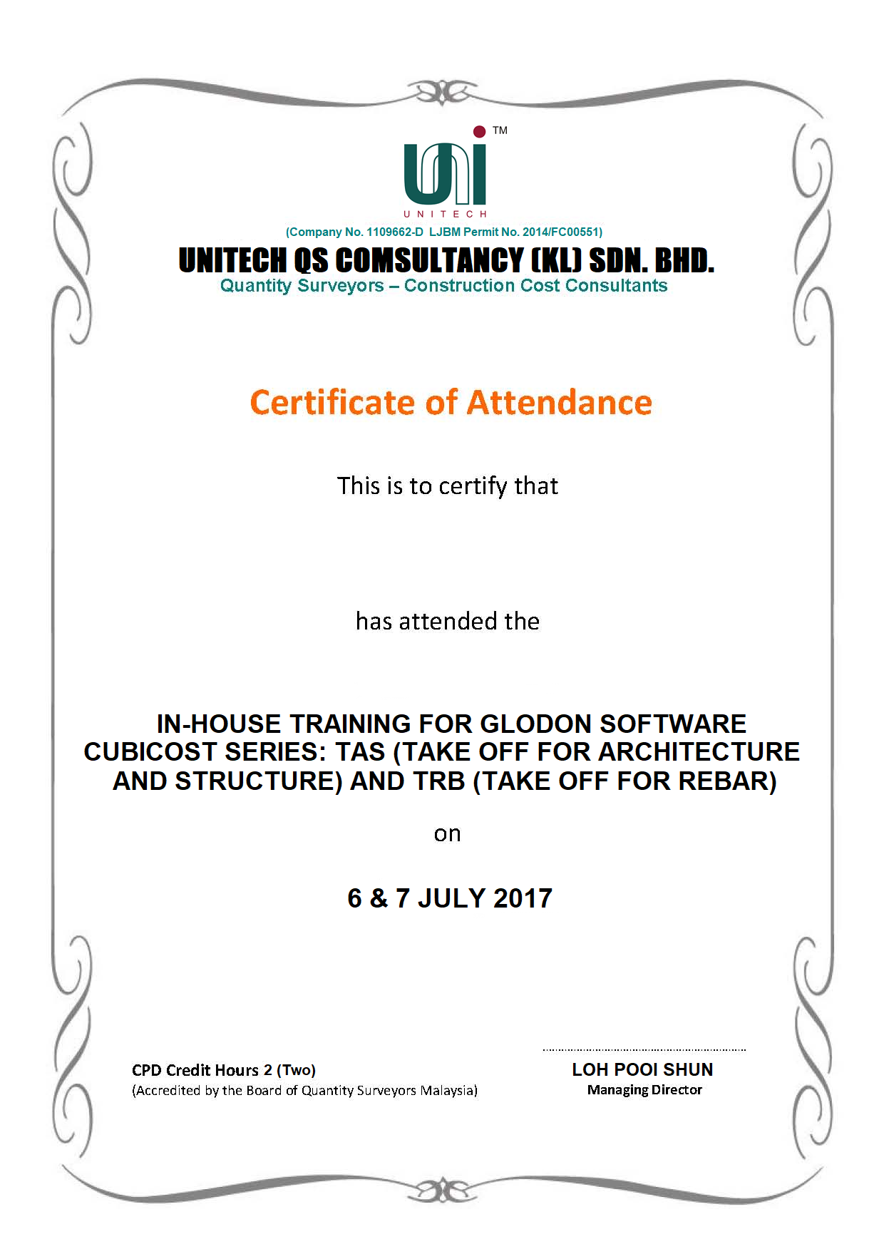 In-house Training 2017 - UKL