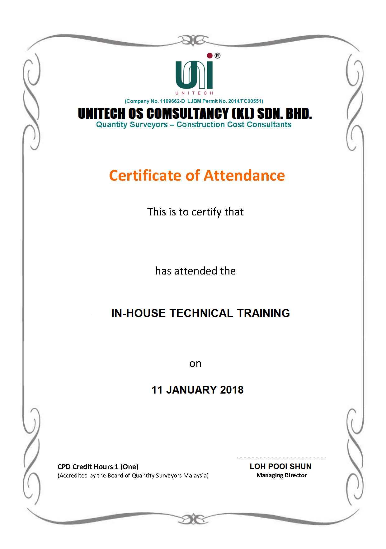In-house Training 2018 - UKL